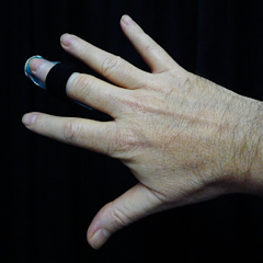 Splinted Injured Long Finger, Hunter Hill, Hagerstown, Maryland,