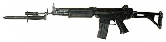 French Nationale FNC automatic rifle most prevalent among Syria's revolutionary forces.  Credit Path: Wikimedia Commons back to CeCILL freeware distribution license.