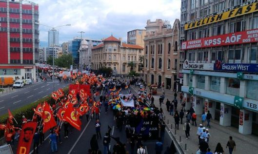 May Day March, Izmir, Turkey, May 2, 2014.  Photographed by Tolga Yildiz.