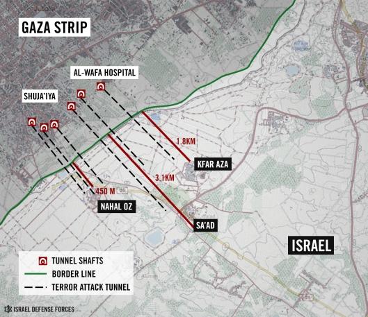 Map depicting HamaNazi incursion into Israel.