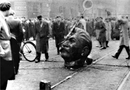 Historic photograph, 1956 Hungarian Revolution against Soviet occupation.