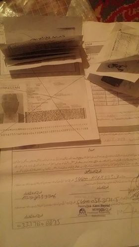 Rejected Residency Documents, Quetta, Pakistan, November 23, 201