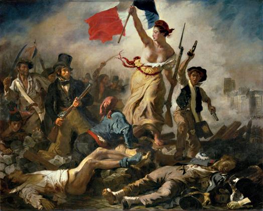 Le 28 Juillet. La Liberté guidant le peuple